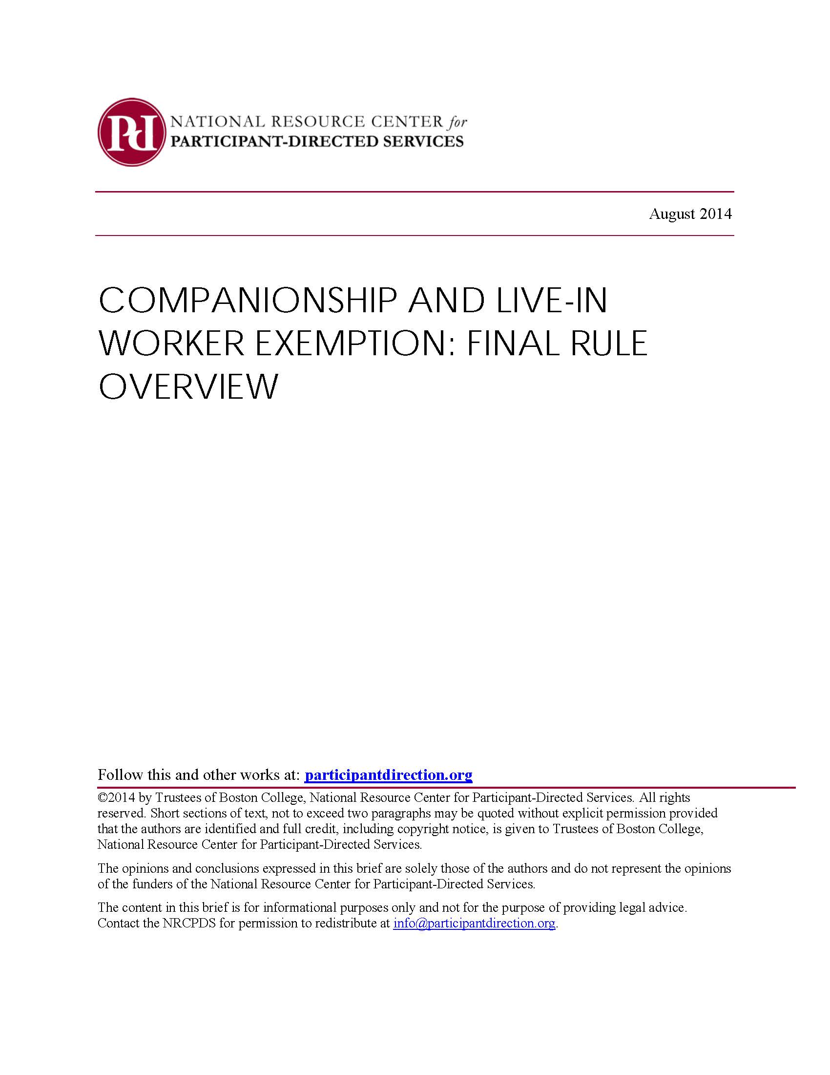 Companionship and Live-In Worker Exemptions