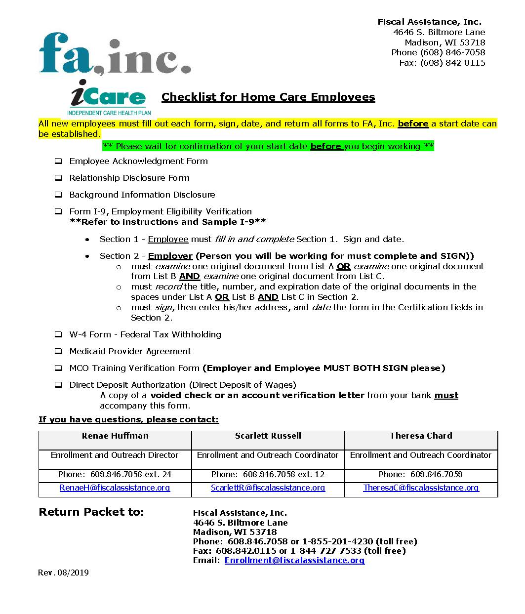 iCare form