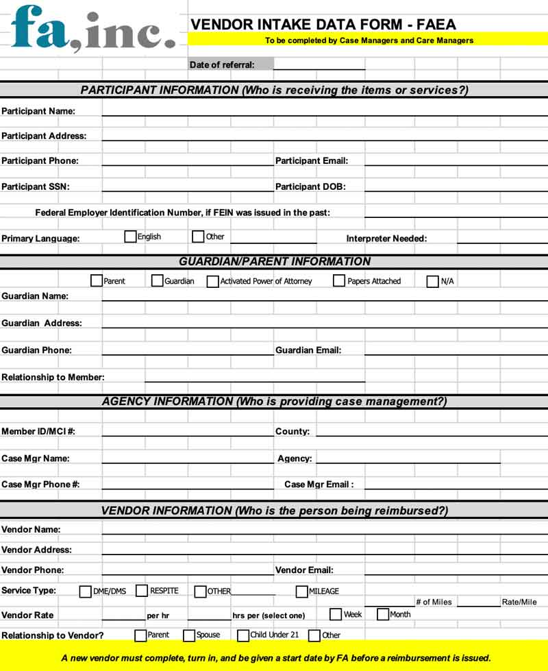 Intake/Referral Form
